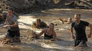 slogging through mud