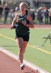 girl running on track