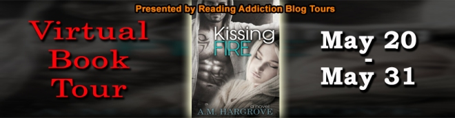 Spotlight, Review, and Giveaway for Kissing Fire by A.M. Hargrove