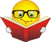 smiley face reading book