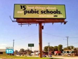 Public School Sign