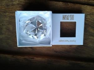 Crystal Paperweight - award